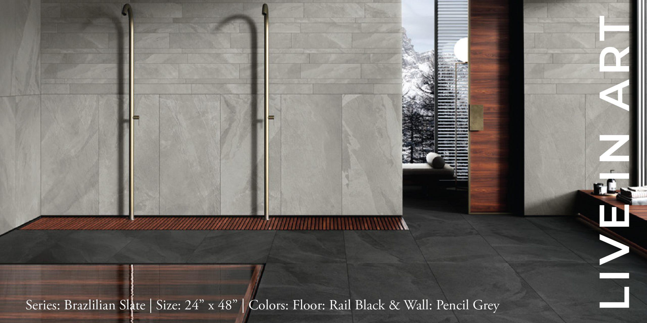 Brazilian Slate Rail Black Pencil Grey 12x24-01