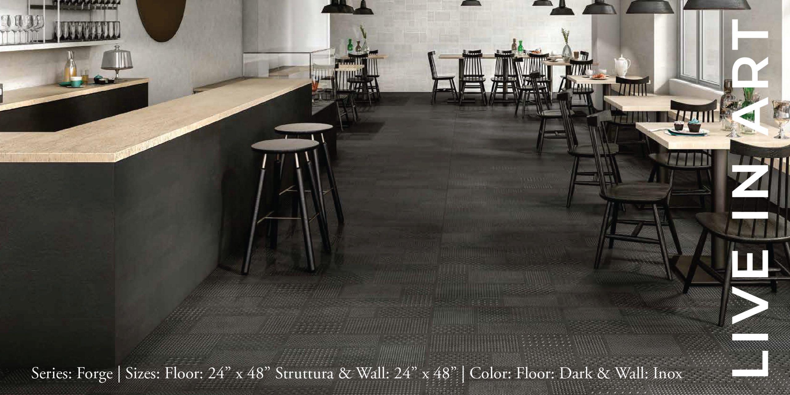 Forge Dark Inox 24x48 Struttura