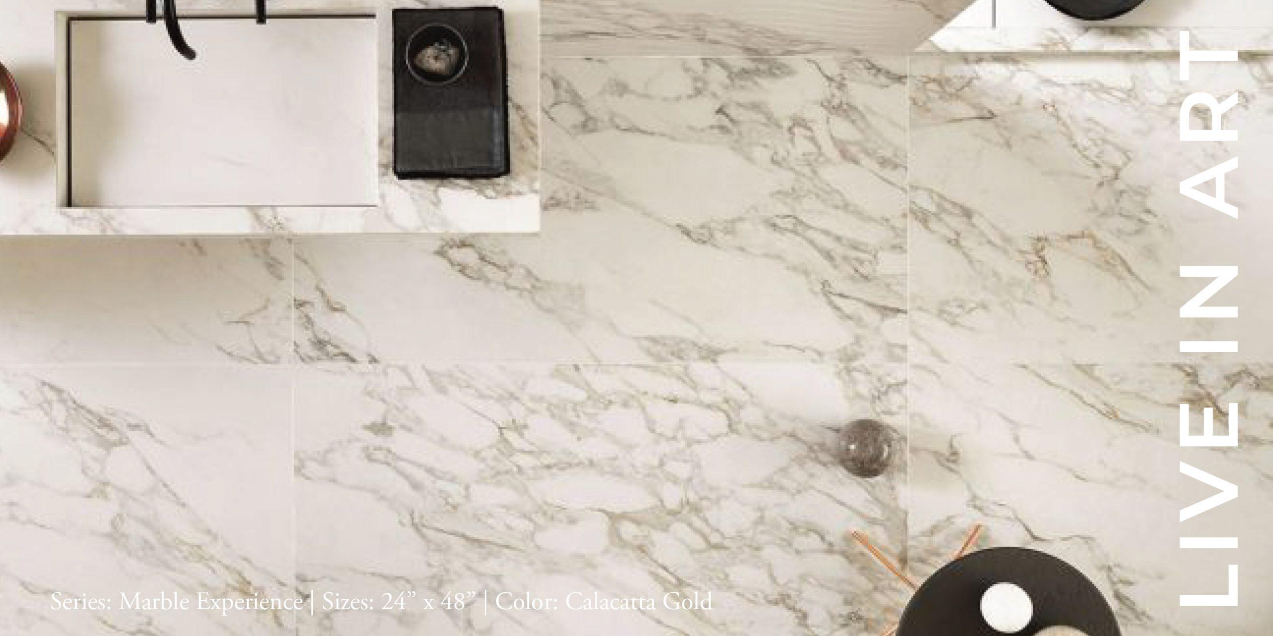 Marble Experience Calacatta Gold 24x48