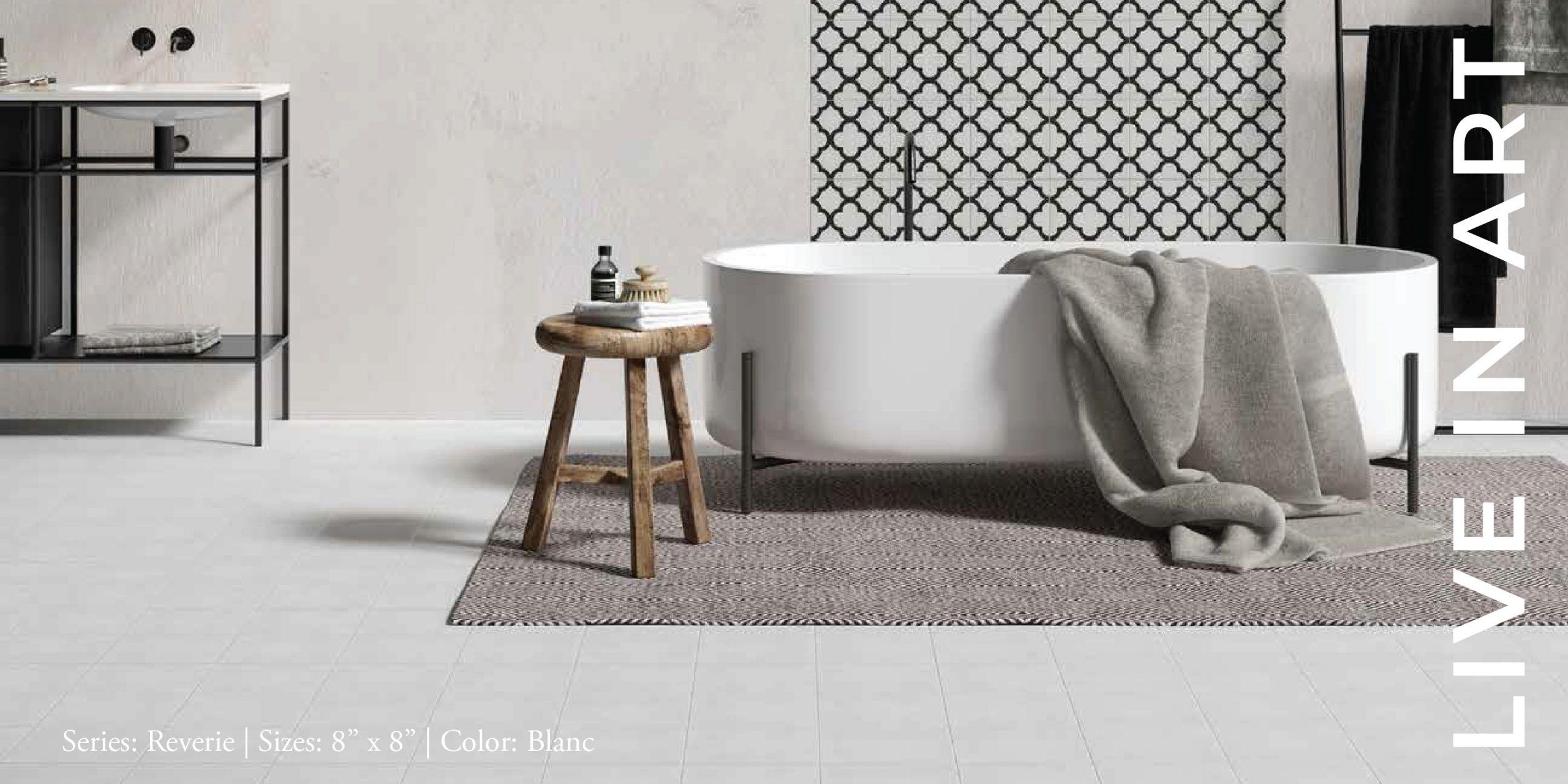 Reverie Blanc 8x8