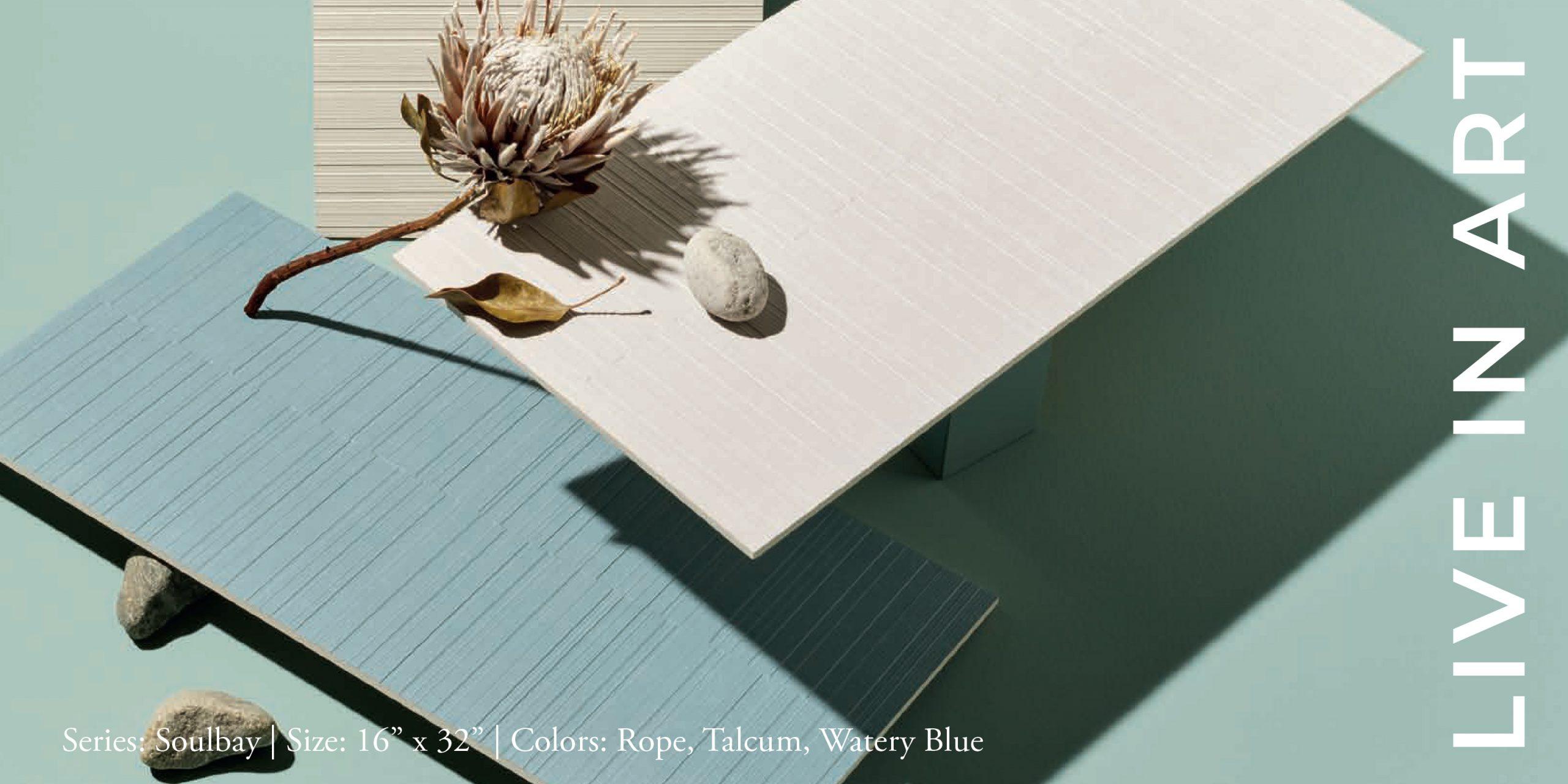 Soulbay Rope, Talcum, Watery Blue 16x32