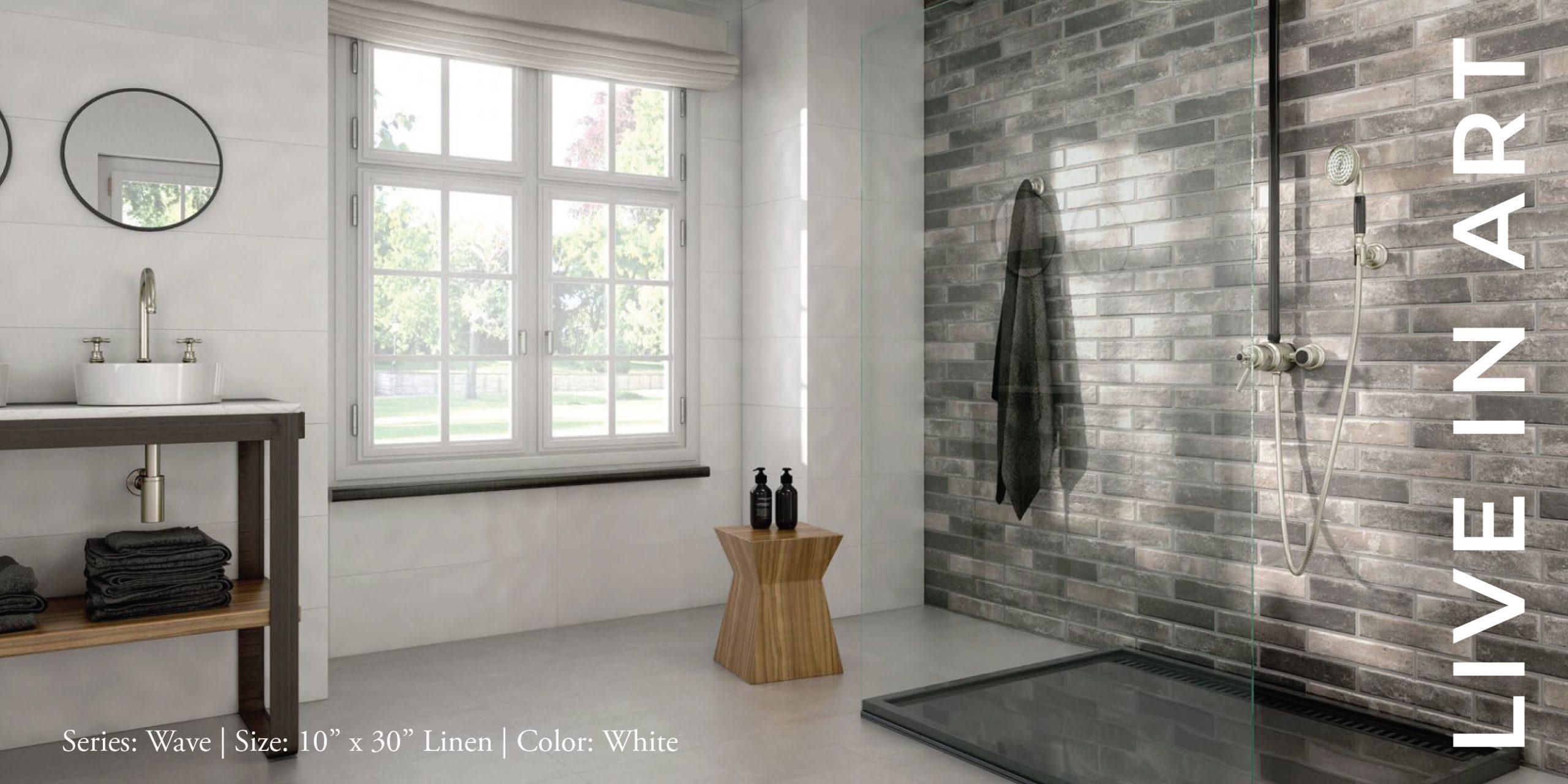 Wave White 10x30 Linen